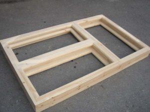 Оконный блок деревянный